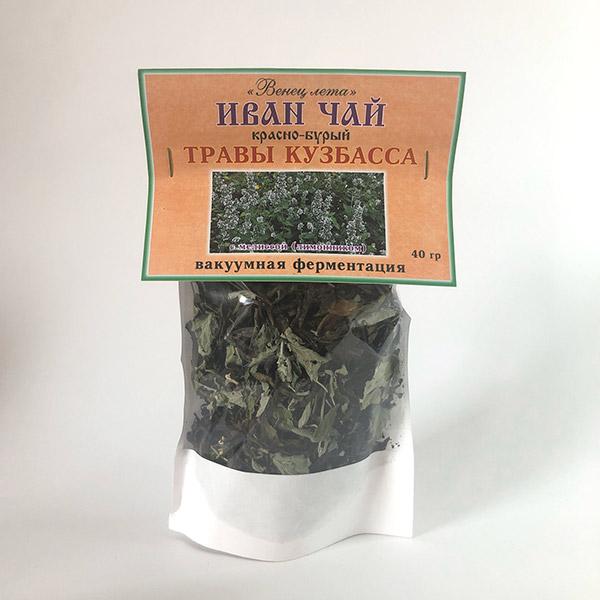 Фиточай Иван-чай (травы Кузбасса) листовой с мелиссой 40 г с доставкой в Кемерово