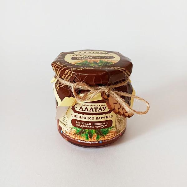 Варенье из сосновой шишки с кедр. орехом 260 г с доставкой в Кемерово